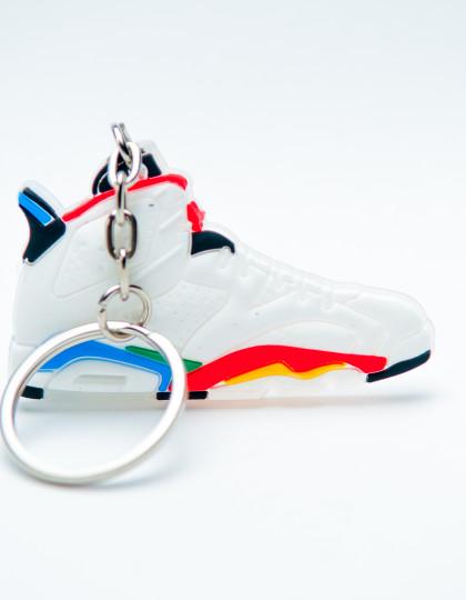 Air Jordan 6 (VI) Retro Olympic White Varsity Red Green Bean New Blue