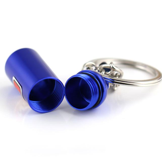 NOS Mini Nitrous Oxide Bottle Keyring Key Chain Ring Keyfob Stash Pill 2