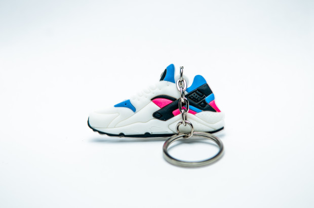 Nike Air Huarache White  Game Royal  Dynamic Pink