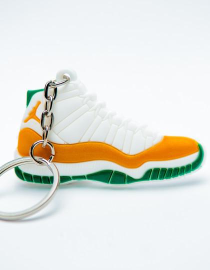 Nike Air Jordan 11 Retro White Orange Green