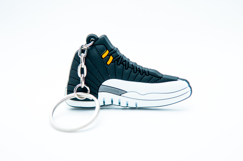 check out 8d252 9cb3f Nike Air Jordan 12 Retro Black White Grey - Kool keyringsKool keyrings