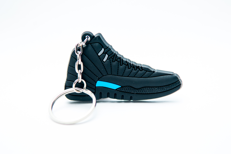 61e18566207 Nike Air Jordan 12 Retro Black Blue - Kool keyringsKool keyrings
