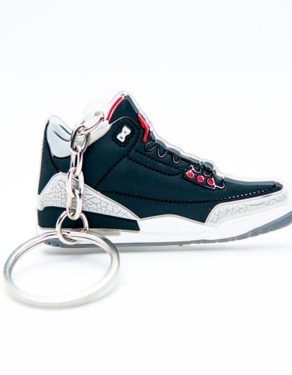 Nike Air Jordan 3 Retro Black Grey Red