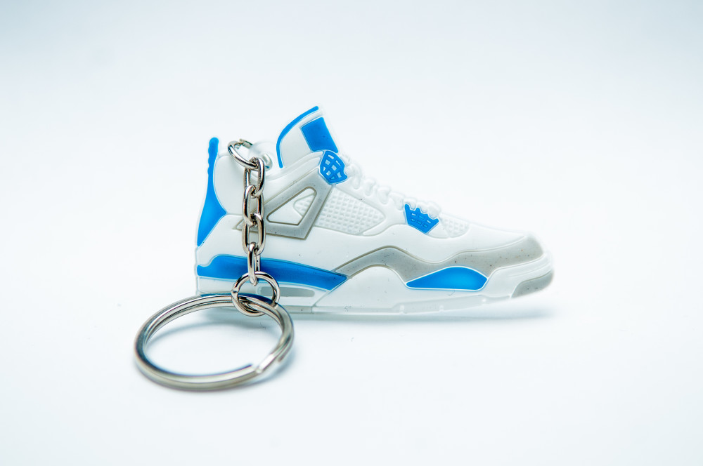 Nike Air Jordan 4 Retro – White  Military Blue – Natural Grey