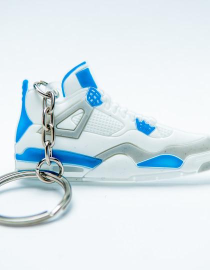 Nike Air Jordan 4 Retro – White  Military Blue – Natural Grey