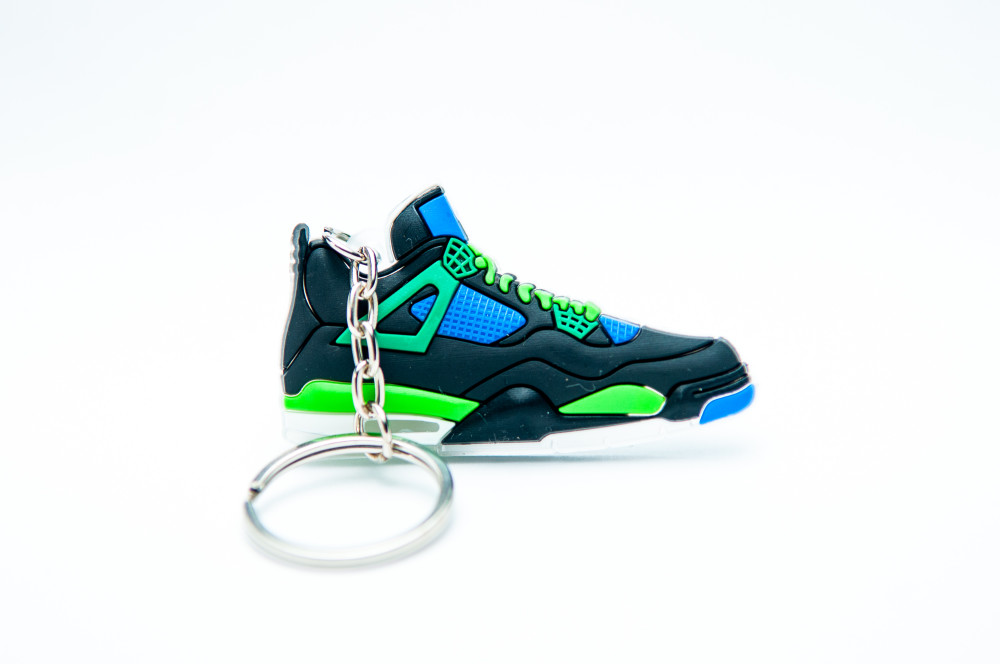Nike Air Jordan 4 Retro Black Blue Green