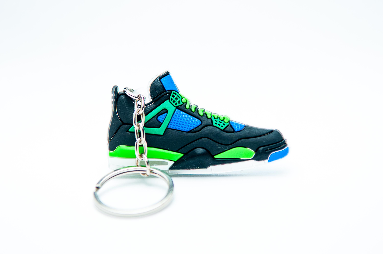 bbf1f5865af Nike Air Jordan 4 Retro Black Blue Green - Kool keyringsKool keyrings