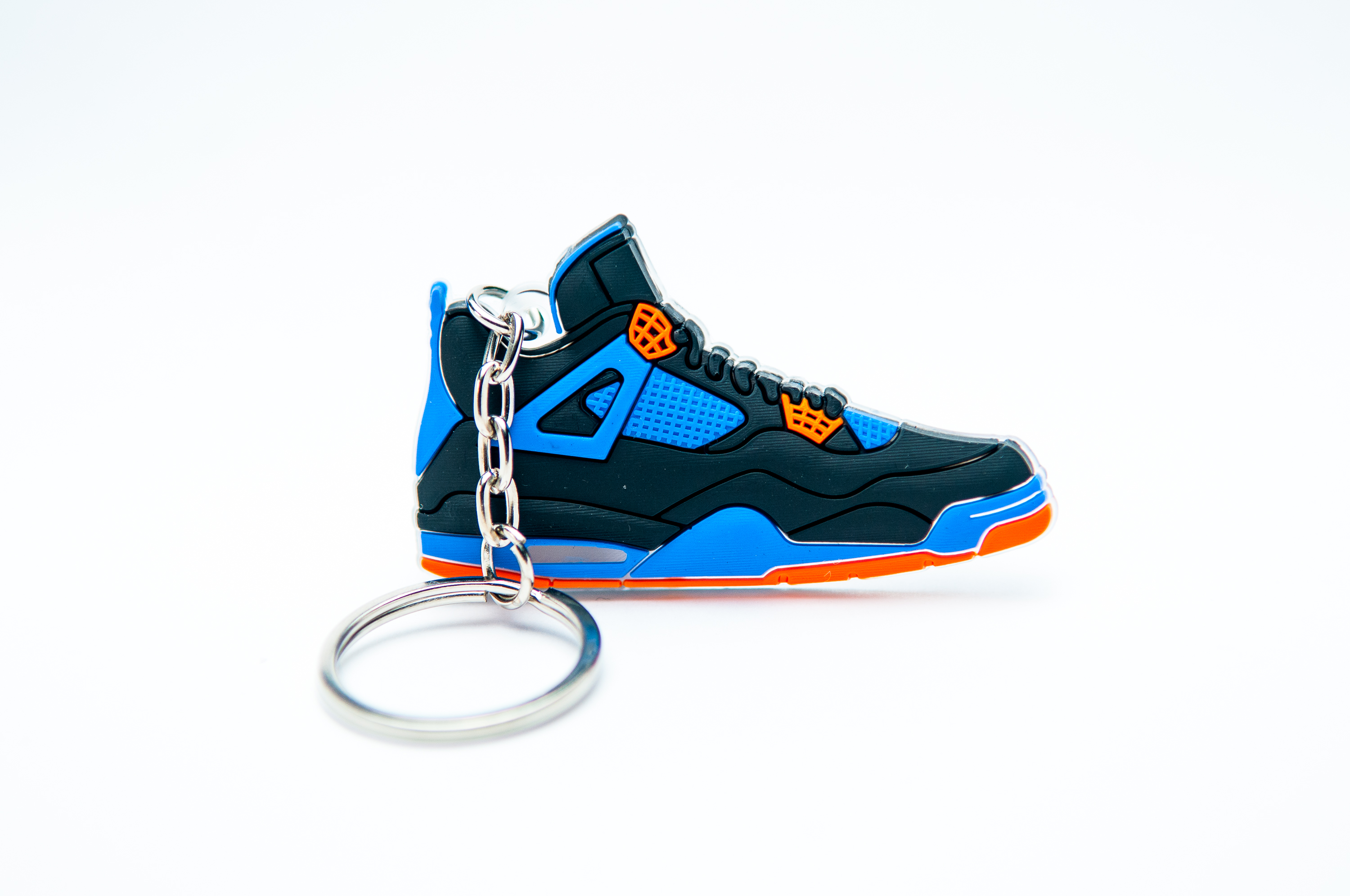 448b9568acc30b Nike Air Jordan 4 Retro Black Blue - Kool keyringsKool keyrings