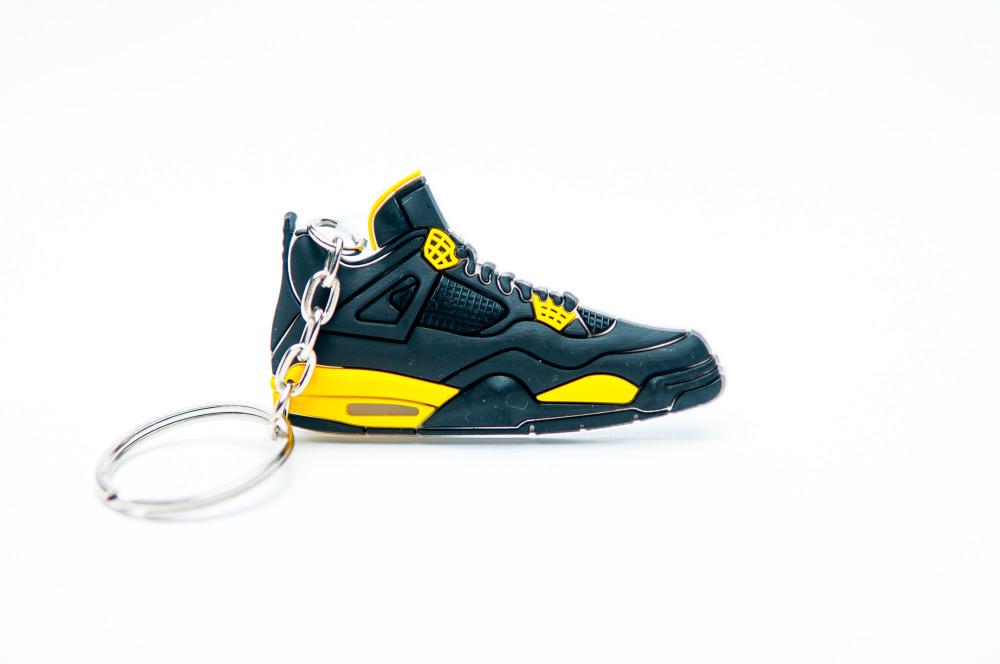 Nike Air Jordan 4 Retro Black Yellow