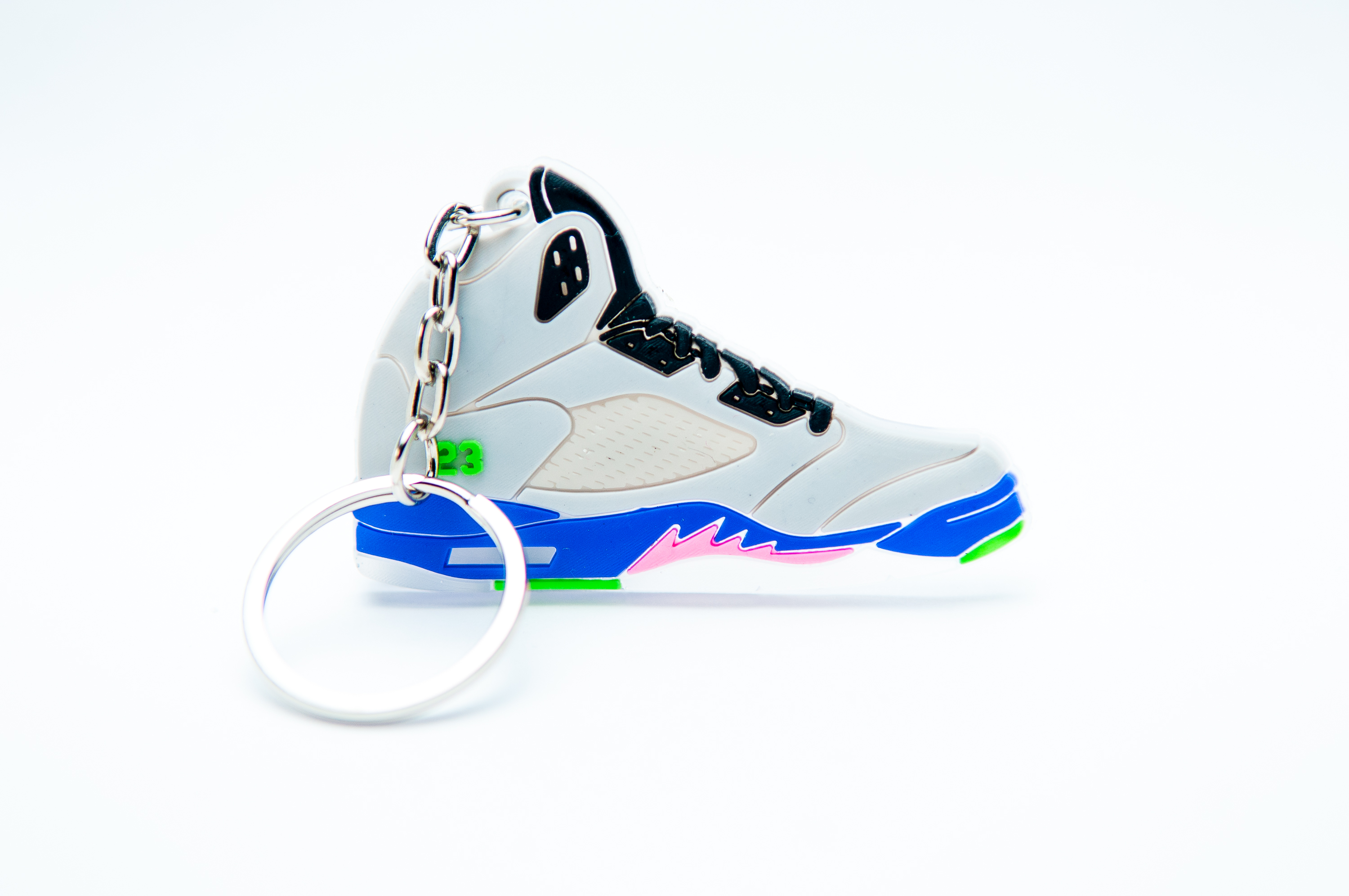4eee14c9316171 Nike Air Jordan 5 Retro Bel Air Grey Purple Pink - Kool keyringsKool  keyrings