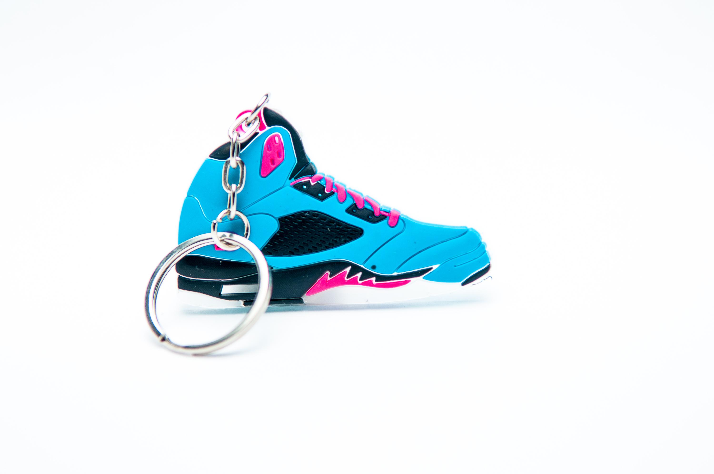 2eff9b4fdc8b07 Nike Air Jordan 5 Retro 23 Blue Pink - Kool keyringsKool keyrings