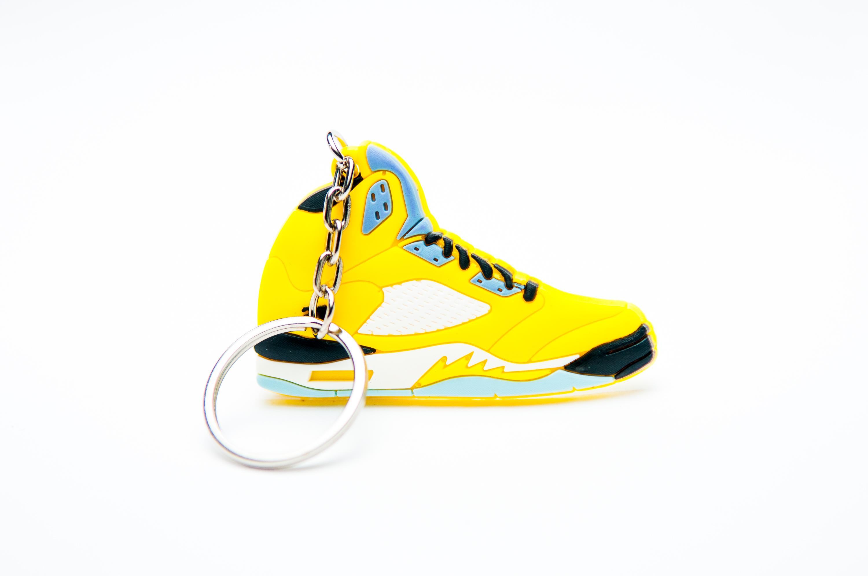 Nike Air Jordan 5 Retro 23 Yellow Blue - Kool keyringsKool keyrings 79145867f