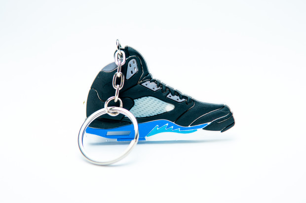 Nike Air Jordan 5 Retro Black Blue Grey