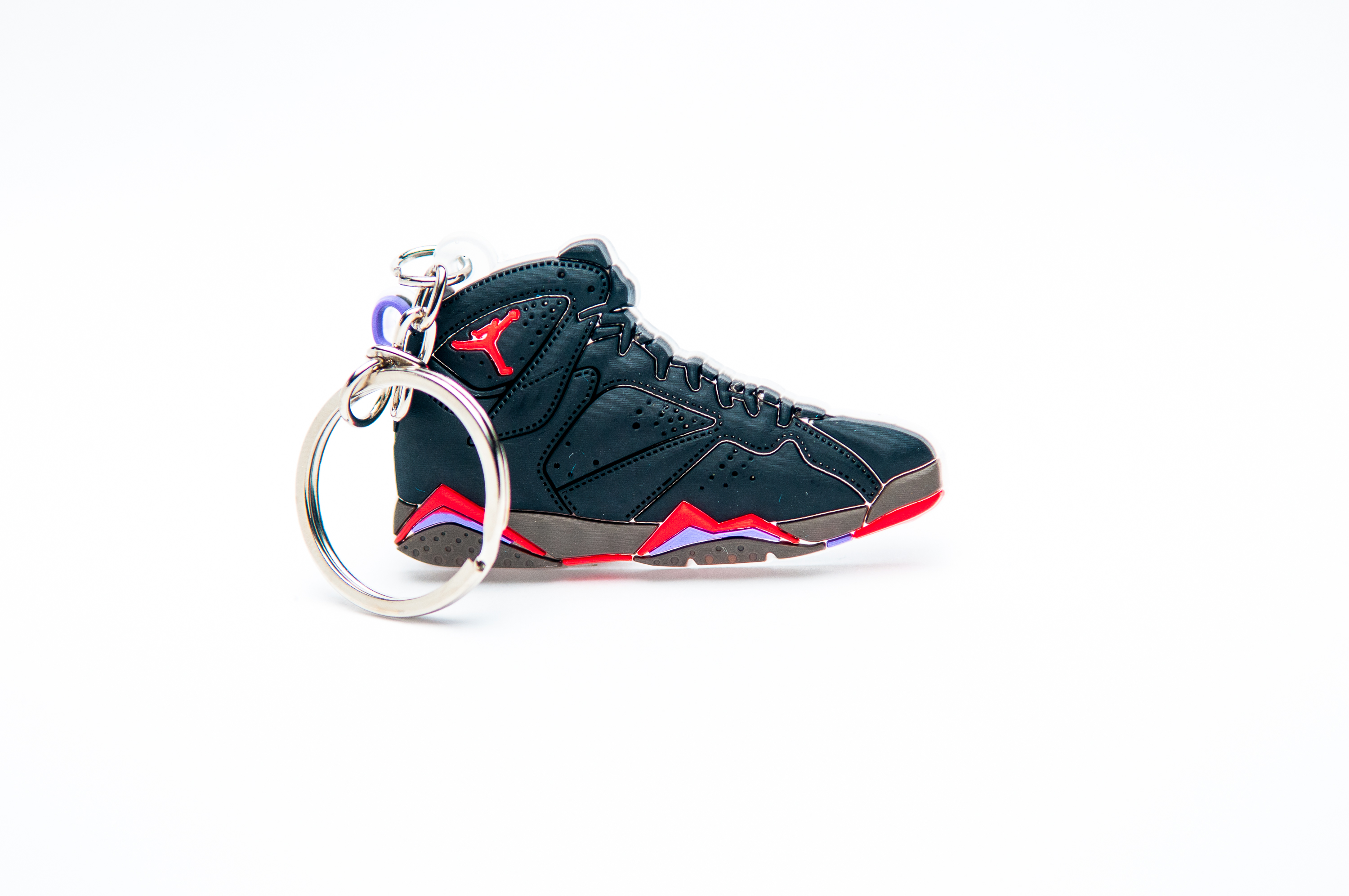 7b0df6dbee55ea Nike Air Jordan 7 Retro Black Purple Red - Kool keyringsKool keyrings