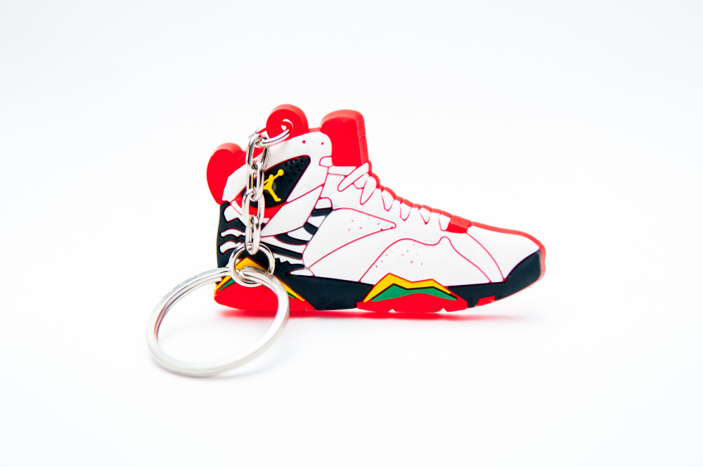 Nike Air Jordan 7 Retro Premio White Del Sol Black Challenge Red