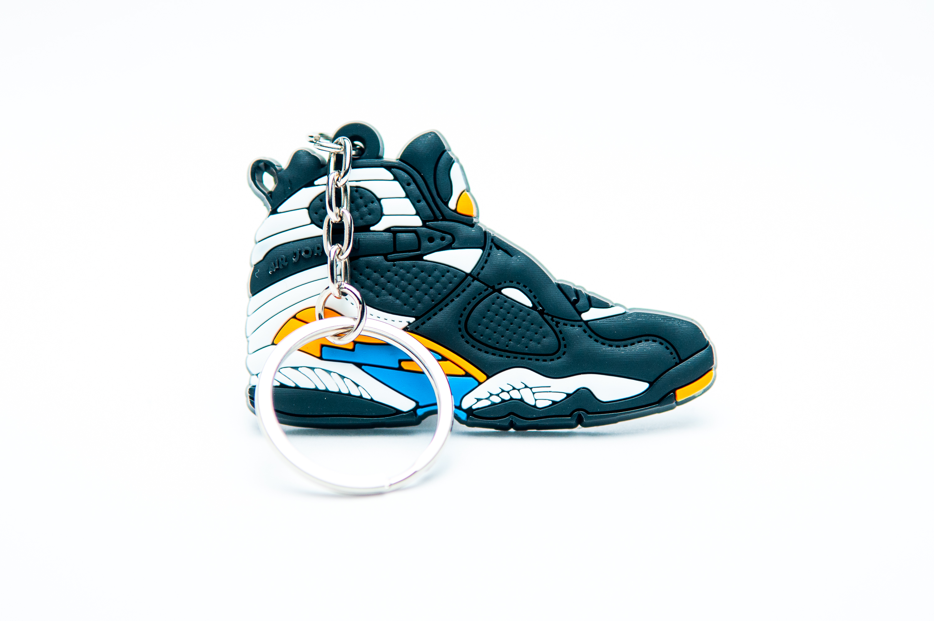 50d16ad8af6 Nike Air Jordan 8 Retro Black Blue White - Kool keyringsKool keyrings