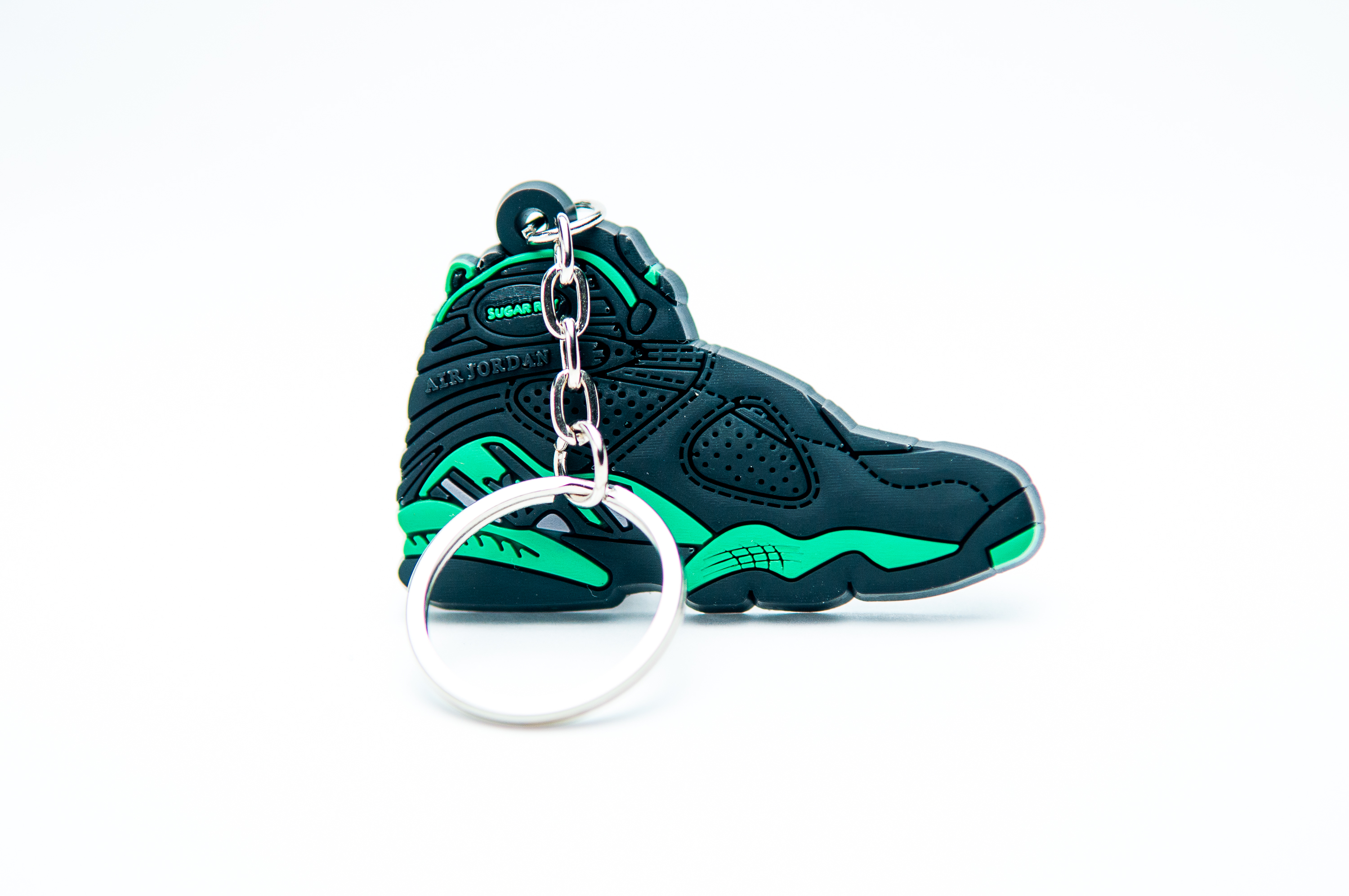 c4d853bca72e91 sale jordan 8 viii women 48080 e5357  sweden nike air jordan 8 retro black  green kool keyringskool keyrings 18174 11778