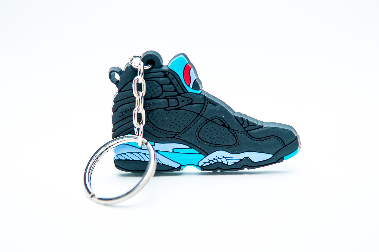 5db38a213c6 Nike Air Jordan 8 Retro Black Light Blue - Kool keyringsKool keyrings