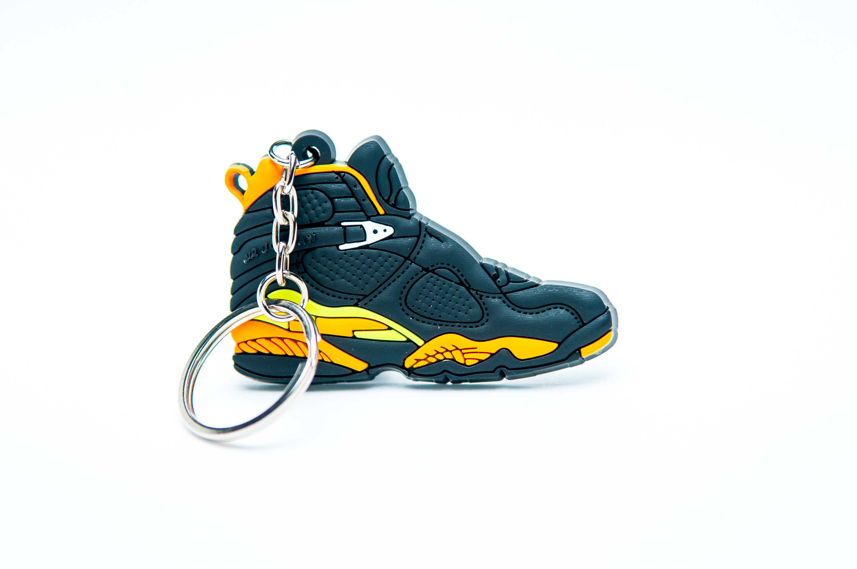 7e829e8159a Nike Air Jordan 8 Retro Black Yellow - Kool keyringsKool keyrings
