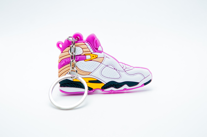 Nike Air Jordan 8 Retro White Pink - Kool keyringsKool keyrings 4e48ee512