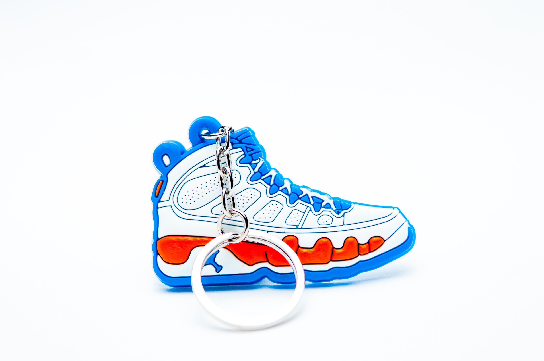 reputable site 38409 a72b2 Nike Air Jordan 9 Retro White Blue - Kool keyringsKool keyrings