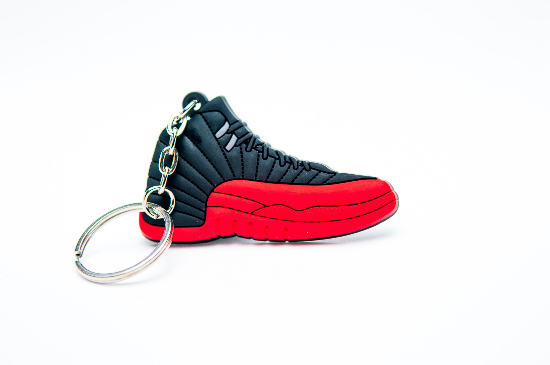 2b717bbbbb200b Nike Air Jordan 12 Retro Black Red - Kool keyringsKool keyrings