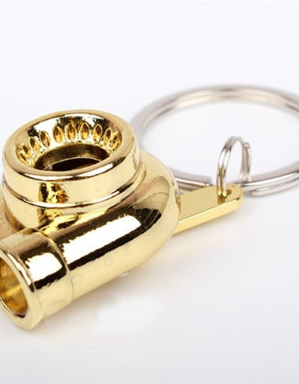 Spinning turbo keychain Gold 2