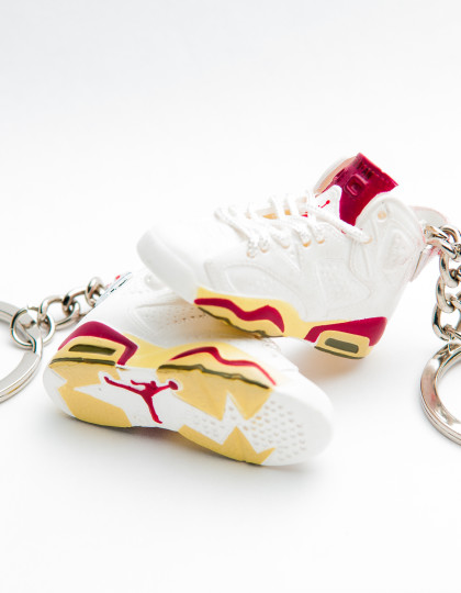 Nike Air Jordan 6 Retro White Yellow Red 3D