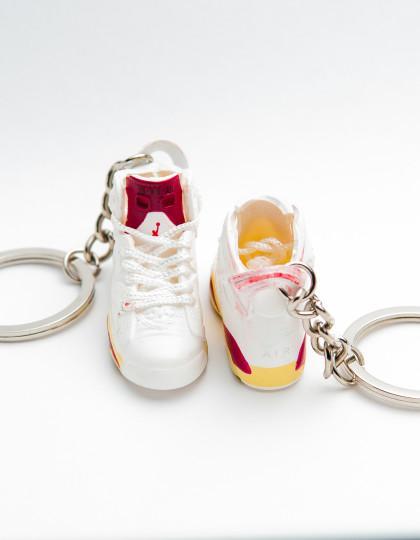 Nike Air Jordan 6 Retro White Yellow Red 3D_