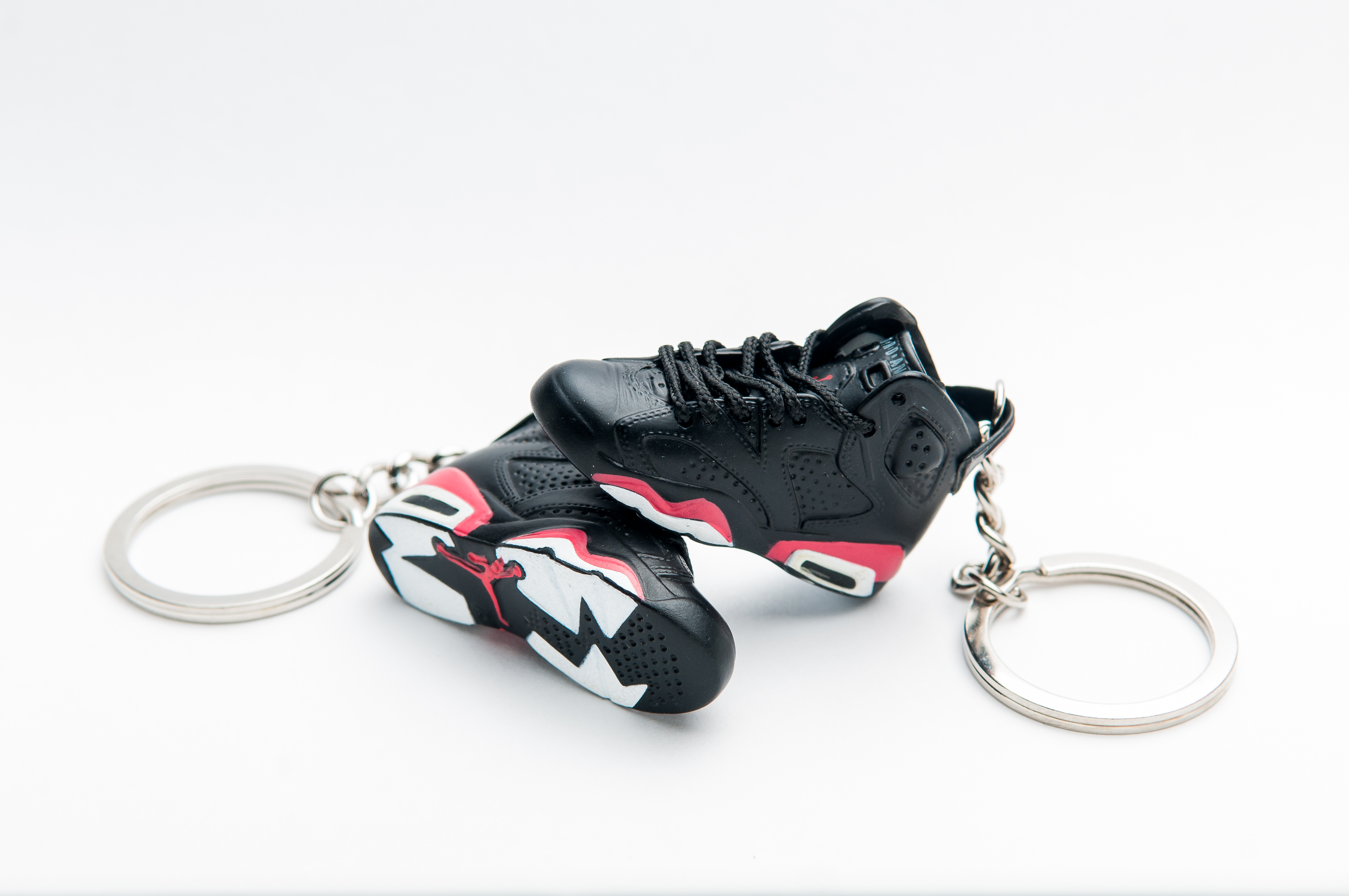 b0c1a7734f4 3D Nike Air Jordan 6 Retro Black Red | Kool keyringsKool keyrings