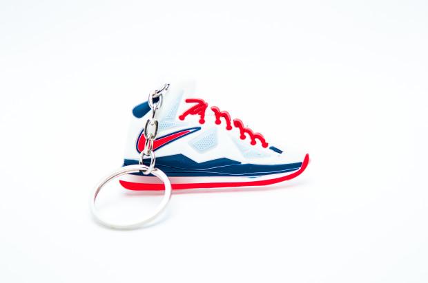 Nike Lebron 10 white blue red