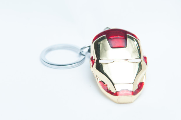 Iron man mask keyring 2