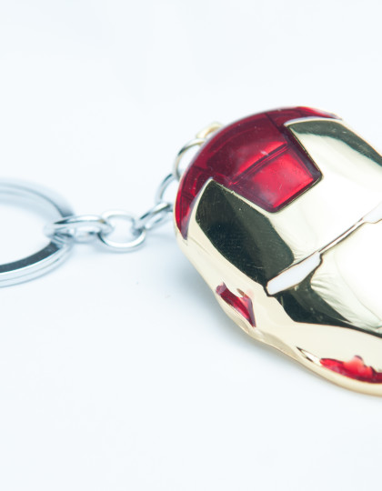 Iron man mask keyring 3