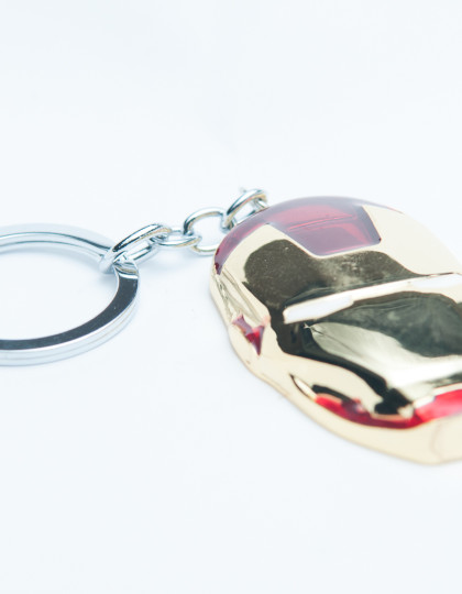 Iron man mask keyring