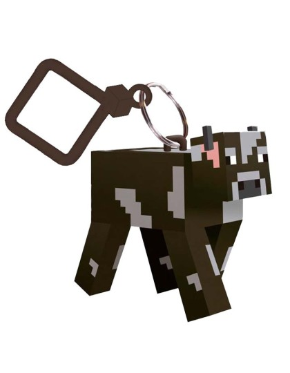 Minecraft Cow Keyring _