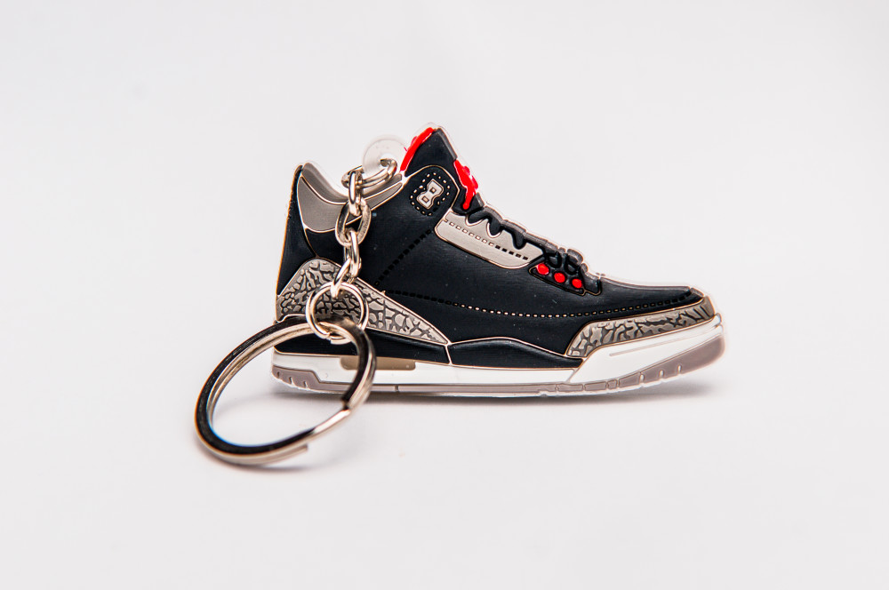 Nike Air Jordan 3 Retro Black  Red Grey