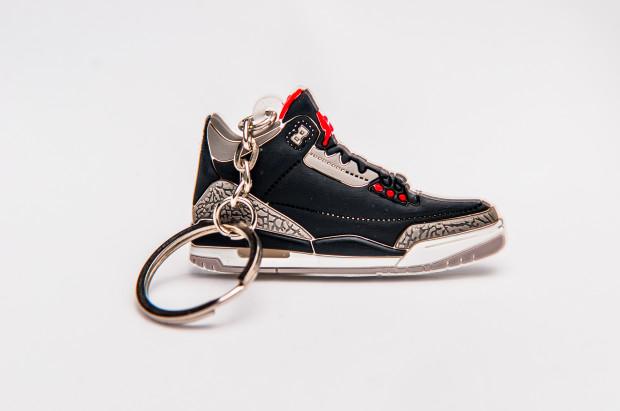 Nike Air Jordan 3 Retro Black  Red Grey