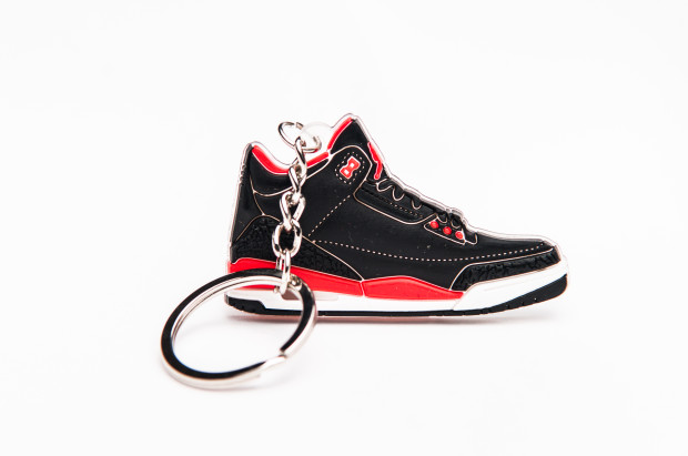 Nike Air Jordan 3 Retro Black Red trainer Keyring