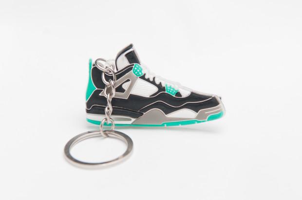 Nike Air Jordan 4 Retro Black Grey Green Keyring
