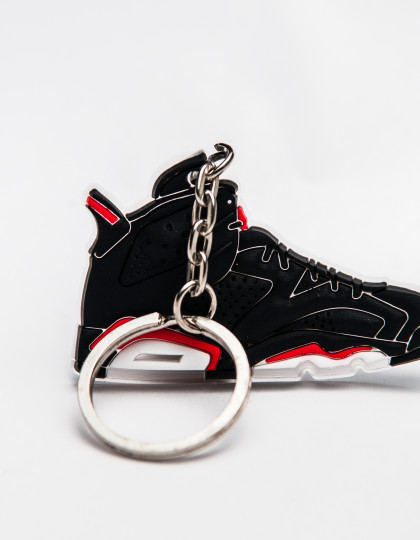 Nike Air Jordan 6 Retro Black Red keyring