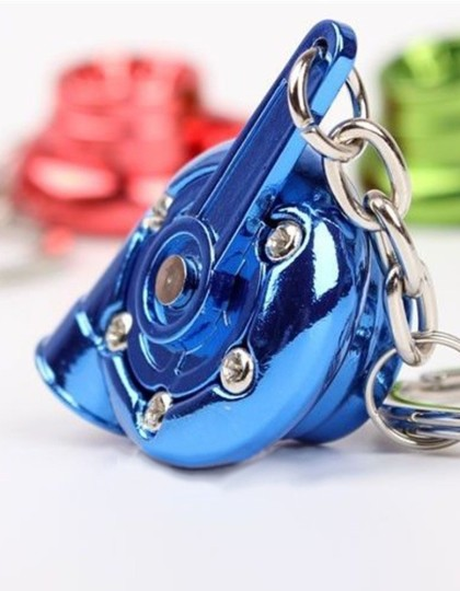 Spinning turbo keychain Blue 3