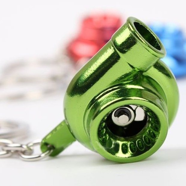 Spinning turbo keychain Green 3
