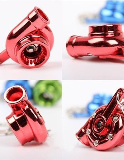 Spinning turbo keychain Red