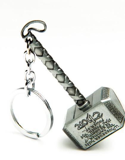 Thor hammer keyring silver 2