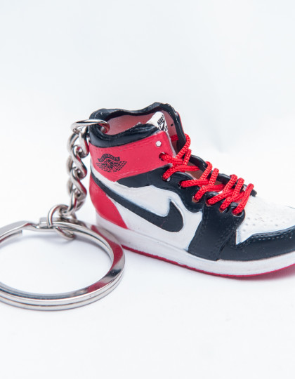 Nike Air Jordan 1 Retro Red Black 3D Keyring