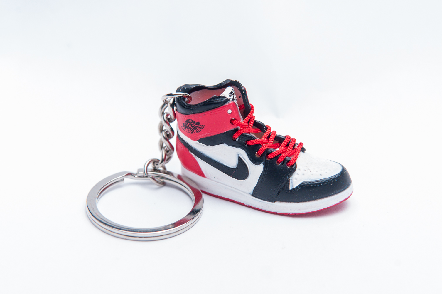 46684dc5f53 Nike Air Jordan 1 Retro Red Black 3D Keyring - Kool keyringsKool ...
