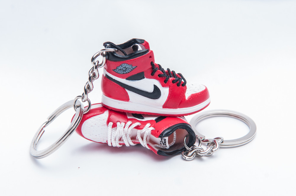 Nike Air Jordan 1 Retro White Red 3D Keyring