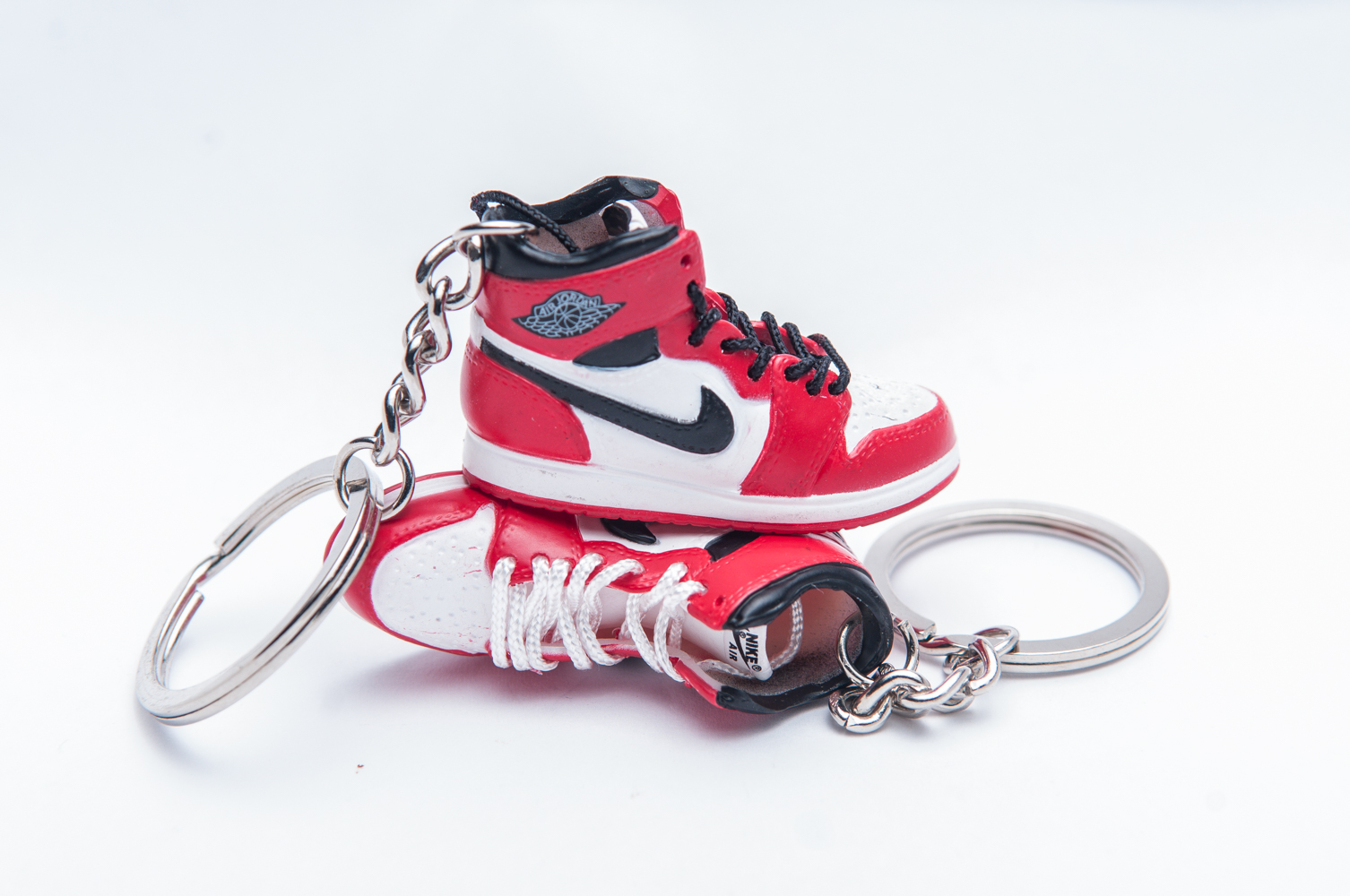 ... Nike Air Jordan 1 Retro White Red 3D Keyring . ... d7e47d762