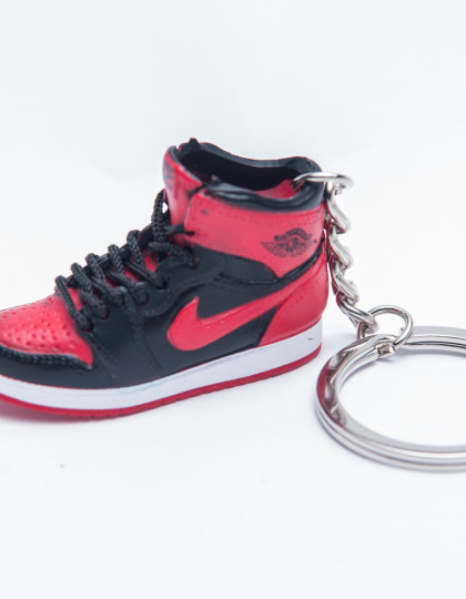 Nike Air Jordan 1 Retro black red 3D trainer Keyring