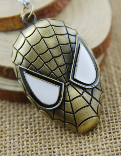 Keyring-New-Arrival-Trendy-Unisex-Face-Llaveros-2015-New-Fashion-Keychain-Spiderman-Mask-Chain-Zinc-Alloy Gold